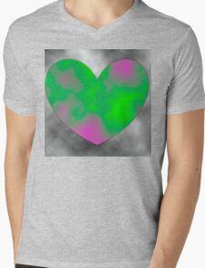 Smoky Heart  Mens V-Neck T-Shirt