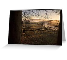 Misty morning views towards Pendle Hill Greeting Card