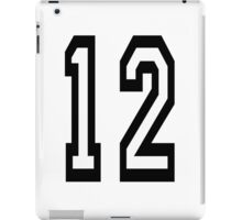 TEAM SPORTS, NUMBER 12, TWELVE, 12, TWELFTH, Competition iPad Case/Skin