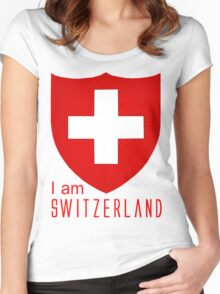 I Am Switzerland Twilight Women's Fitted Scoop T-Shirt