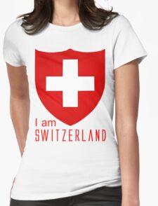 I Am Switzerland Twilight Womens Fitted T-Shirt