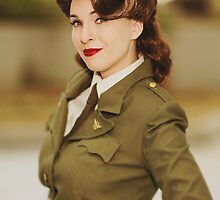 Tanya Wheelock as Peggy Carter (Photography by David Skirmont, with Additional Editing by Tascha Dearing) by mostdecentthing