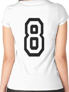 8, EIGHT, TEAM SPORTS, NUMBER 8, eighth, competition Women's Fitted Scoop T-Shirt