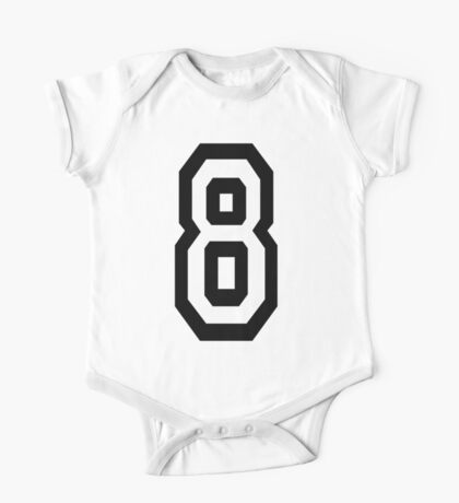 8, EIGHT, TEAM SPORTS, NUMBER 8, eighth, competition One Piece - Short Sleeve