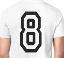8, EIGHT, TEAM SPORTS, NUMBER 8, eighth, competition Unisex T-Shirt