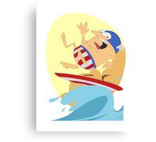 Surfing Captain Canvas Print