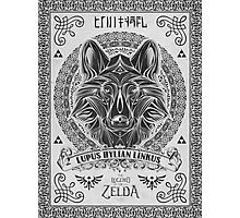 Legend of Zelda Twilight Princess Wolf Link Line Artly  Photographic Print