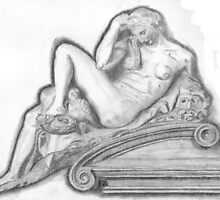 Sketch of Michelangelo's 'Night' Sculpture by lissygrace