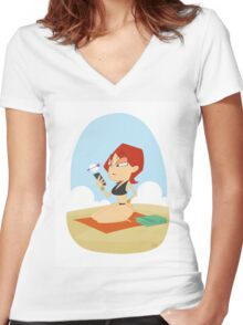 Natasha Bikini Women's Fitted V-Neck T-Shirt