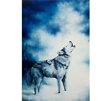 Midnight Cry of the Wolf Photographic Print