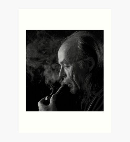 smoking a pipe...  Art Print