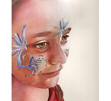 Face Painting, watercolor on paper Photographic Print