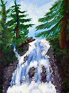 Dreamy Waterfall by Tori Snow