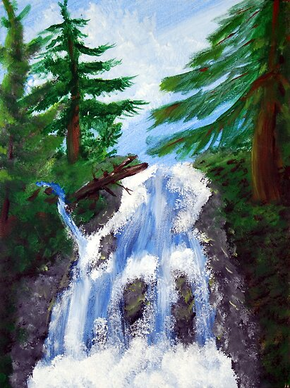 Dreamy Waterfall by Tori Snow