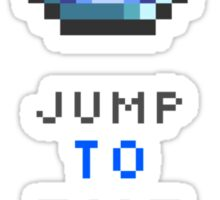 Jump To The Limit Terraria Sticker