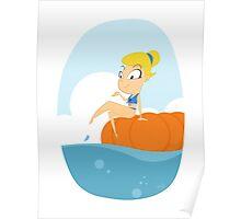Beach Pumpkin Cindy Poster