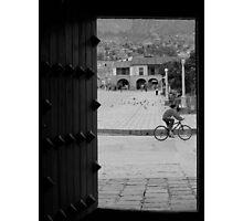 Patio with Vista de la Plaza Photographic Print