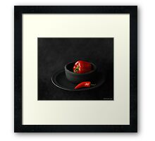 COMPOSITION WITH RED Framed Print