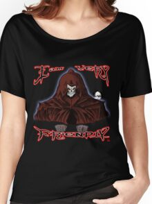 GRIM REAPER AND SIDE KICK/ I AM VERY FRIENDLY Women's Relaxed Fit T-Shirt