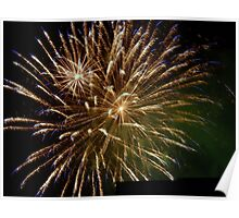 Fireworks in the Night Poster