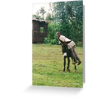 Me and my donkey  Greeting Card