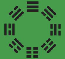 I Ching symbol, Book of Changes, Black on White Kids Clothes