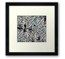 abstract graffiti Framed Print