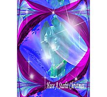 Have A Starlit Christmas Angel Photographic Print