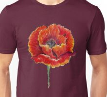Poppy Flower Watercolor Unisex T-Shirt
