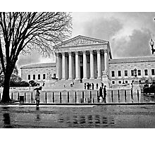Justice is Black and White Photographic Print