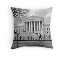 Justice is Black and White Throw Pillow