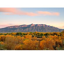 The Sandias and the Rio Grande Bosque II Photographic Print