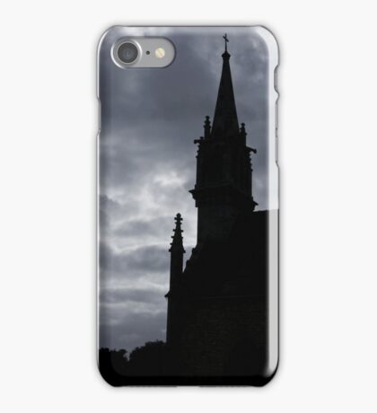 Brittany Church Silhouetted Against a Threatening Sky - France iPhone Case/Skin