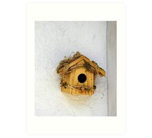 Wooden Birdhouse Art Print