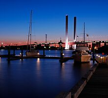 Melbourne Australia Docklands - Bolte Bridge by DavidIori