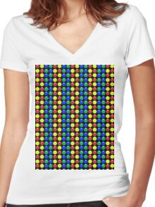 Gumballs Women's Fitted V-Neck T-Shirt