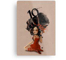 Girl 10   Wild Hair Metal Print