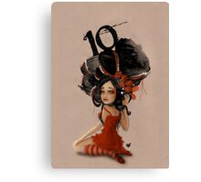 Girl 10 | Wild Hair Canvas Print