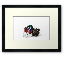 christmas hamster Framed Print