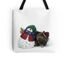 christmas hamster Tote Bag