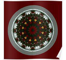Christmas Kaleidoscope Digital Design Poster