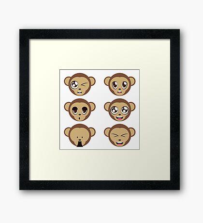 Monkey Heads Framed Print