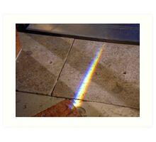 Rainbow on the floor Art Print
