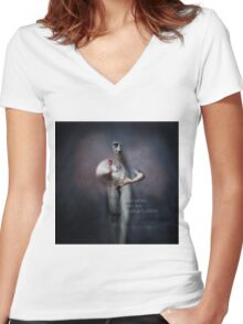 No Title 138 Women's Fitted V-Neck T-Shirt