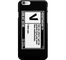 Pulp Fiction Vegetarian iPhone Case/Skin