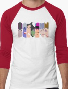The Seven Deadly Villains  Men's Baseball ¾ T-Shirt