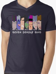 The Seven Deadly Villains  Mens V-Neck T-Shirt