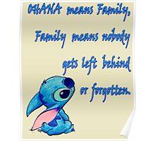 Lilo & Stitch - Ohana Family Quote (2) Poster