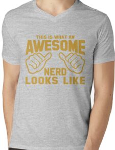 This is What an AWESOME NERD Looks Like Mens V-Neck T-Shirt