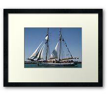 The One & All Brigantine Tall Ship - Youth Development Sail Training Framed Print